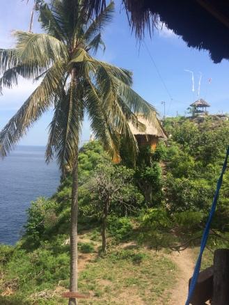 Rumah pohon di tengah pulau