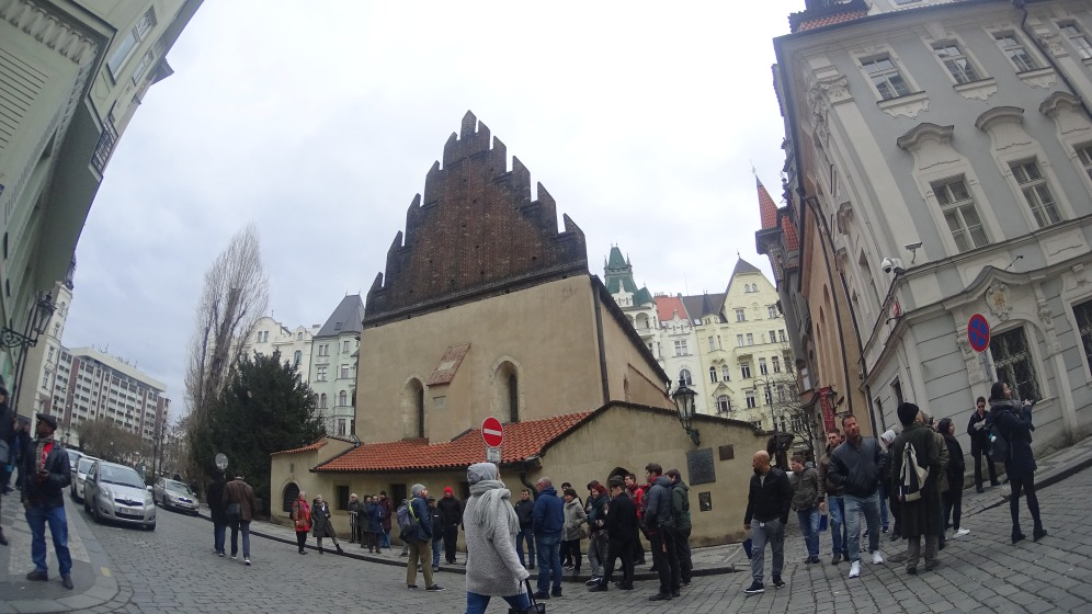Old and New Synagogue di Pemukiman Yahudi, Praha