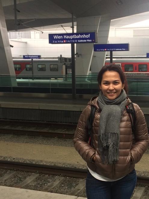 Di stasiun Wien Hauptbahnhof