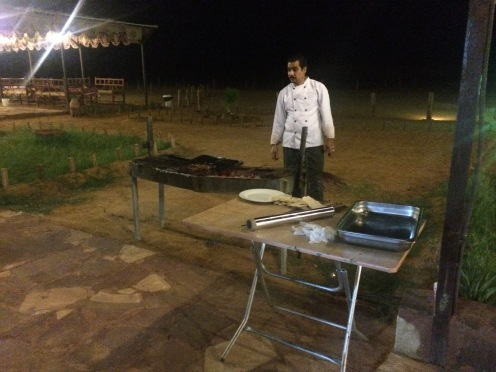 Barbecue dinner at Sahary Al Ula Camp