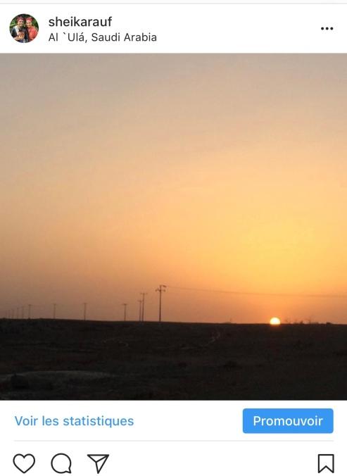 Sunset di gunung Al Ula