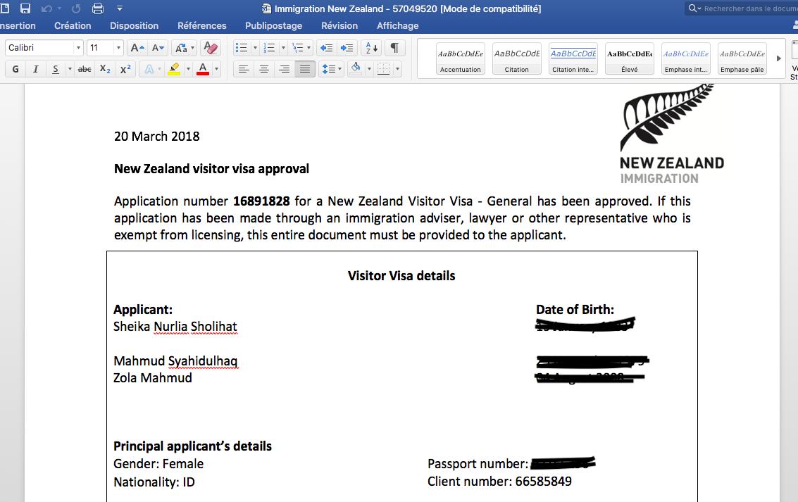 Apply Visa New Zealand Online Paperless Dan Satu Visa
