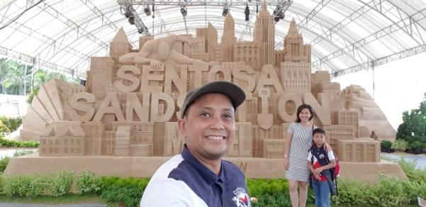 Marvel Sandsation at Siloso Beach