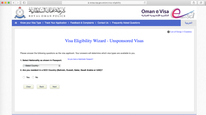 E-Visa Oman