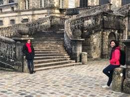 Pintu masuk kastil Fontainebleau