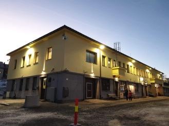 Narvik station, tidak terlihat siapapun di gedung ini