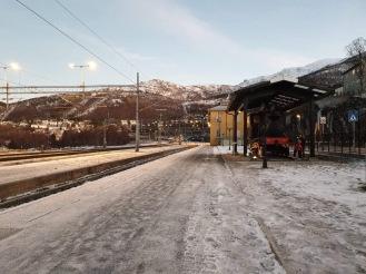 Narvik station, kecil namun memiliki view yang cantik