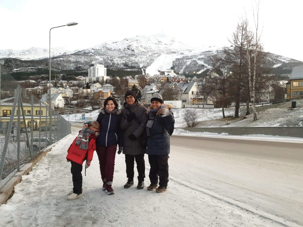 On our way to narvik station. It's walking distance from apartment