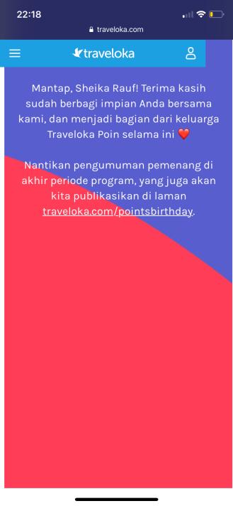 Traveloka Points Birthday Bash 2nd Anniversary