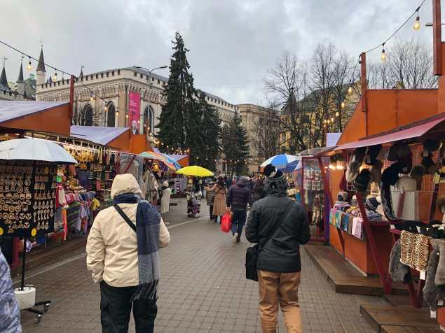 Christmas Market di Riga tidak begitu besar