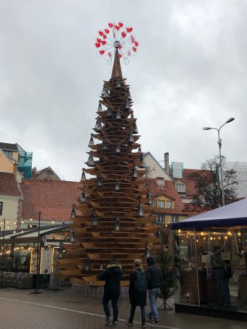 Unique Christmas tree in the middle of Old Town Riga