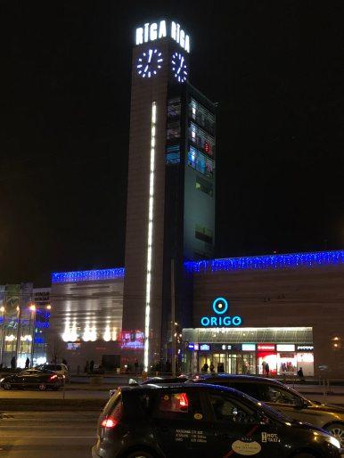 Riga di malam hari