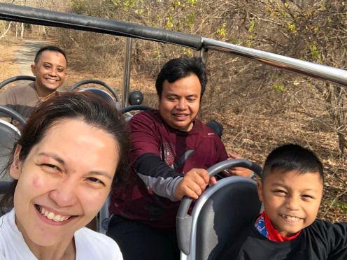 Enjoy boogey car at West Bali National Park